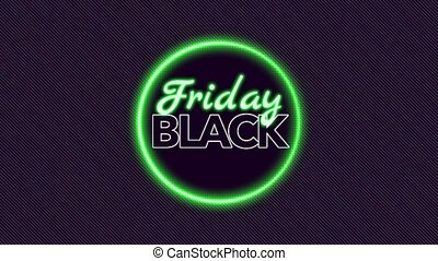 Animation intro text Black Friday on fashion and club ...