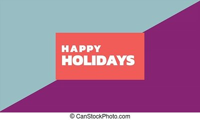 Animation intro text Happy Holidays on fashion and ...