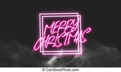 Animation intro text Merry Christmas on fashion and club ...