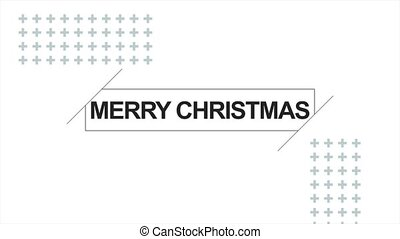 Animation intro text Merry Christmas on white fashion and ...