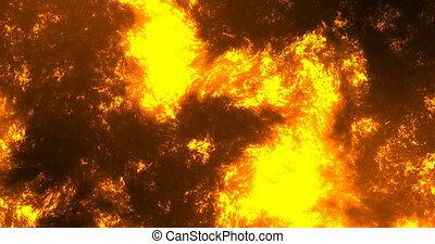 Lava Lake Volcano Abstract Background. - Animation Lava Lake...