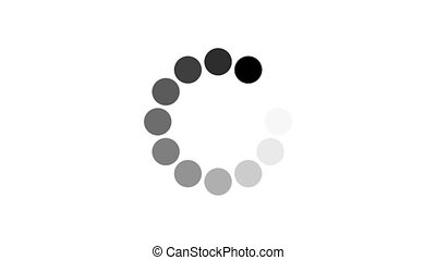 animation - loading circle icon on white background with alpha channel. 4K video.