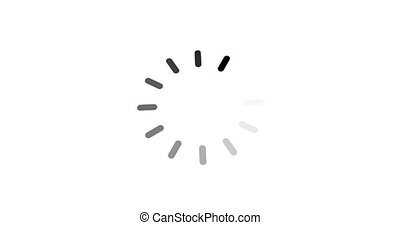 animation - loading circle icon on white background with alpha channel. 4K