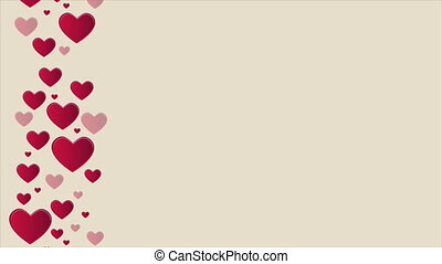 Animation looping of heart for greeting valentine day