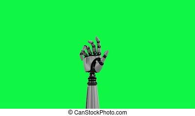 animation, main, robotique