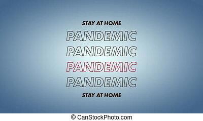 animation, maison, mots, pandémie, séjour