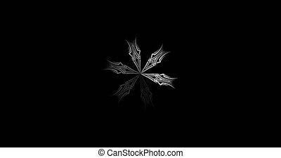 animation, mandala., blanc, simple, 4k, preloader, noir