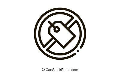 animation, marque, étiquette, dehors, icône, traversé