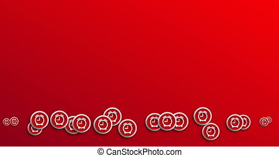 animation modern abstract alarm clock icons motion background.