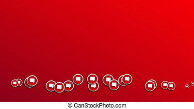 animation modern abstract bubble speech icons motion...