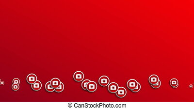 animation modern abstract camera icons motion background.