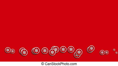 animation modern abstract flower icons motion background.