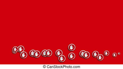 animation modern abstract hand icons motion background.