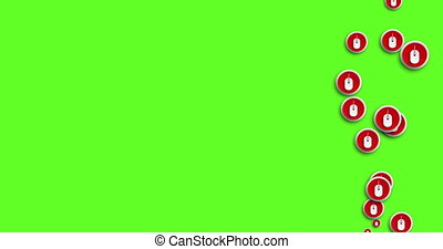 animation modern abstract mouse icons motion background. -...