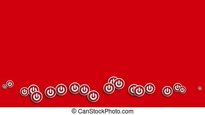 animation modern abstract play icons motion background. -...