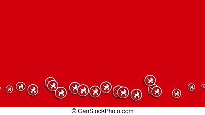 animation modern abstract pram icons motion background. -...