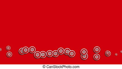 animation modern abstract radiation icons motion background....