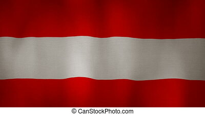 Austria flag fabric texture waving in the wind - animation -...