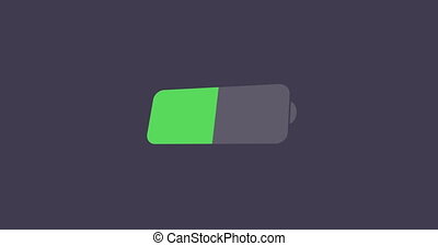 modern battery icon on sample background - animation modern...