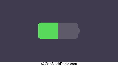 animation modern battery icon on sample background