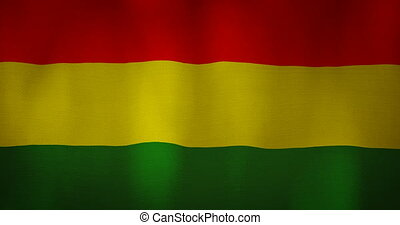 animation - modern Bolivia flag fabric texture waving in the wind. 4K motion flag footage video