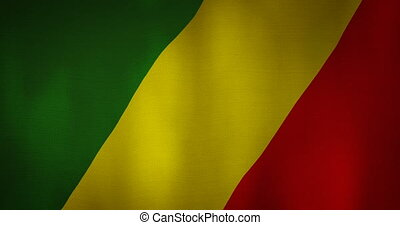 Democratic republic of congo flag fabric texture waving in...