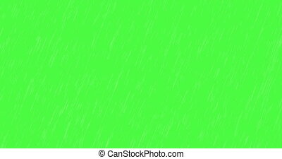 animation - modern falling rain on green background