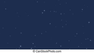 animation - modern falling snow background. Christmas snowflake backdrop.