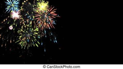 animation modern fireworks background. Footage design for...