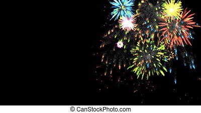 animation modern fireworks background.