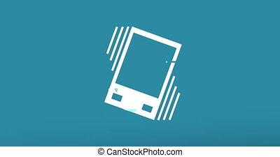 animation - modern gadget glitch background. 4k footage...