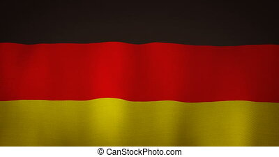 Germania flag fabric texture waving in the wind