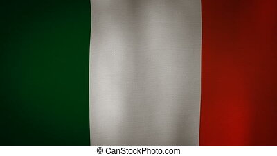 Ireland flag fabric texture waving in the wind.