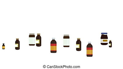 animation modern motion medicine bottles