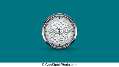 watch icon on blue background