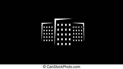 animation - modern real estate glitch background. 4k footage...