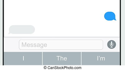 realistic smartphones with text message isolated on white...