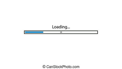 animation - modern rotation loading bar on white background. Footage with alpha matte.