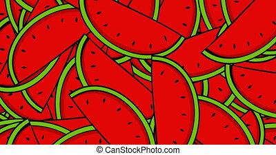 animation modern rotation watermelon background.