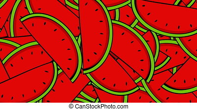 animation modern rotation watermelon background. - animation...
