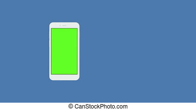 smartphone with green screen rotate background
