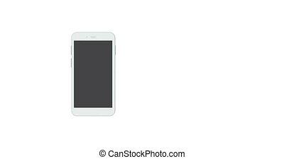 smartphones rotate on white - animation modern smartphones...