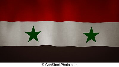 Syria flag fabric texture waving in the wind - animation -...