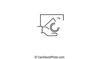 Business development, successful career, office collection on white background with alpha channel