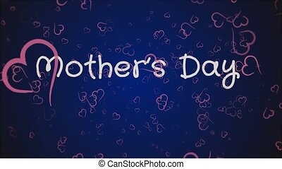 Animation Mother's day, greeting card