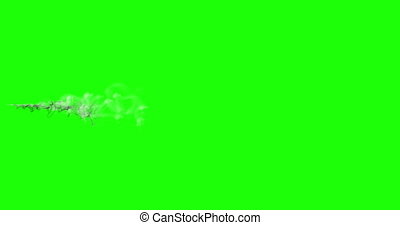 animation - motion of a cloud of smoke or steam on green