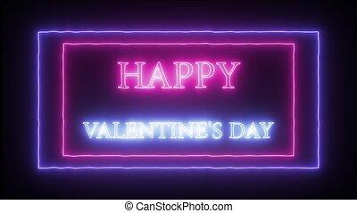 "Animation neon sign ""Happy Valentine's Day"" - Animation ..."