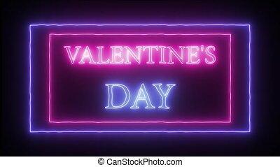 "Animation neon sign ""Valentine's Day"" - Animation flashing ..."