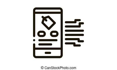 animation, neuromarketing, icône, étiquette, app, smartphone
