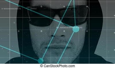animation, numérique, 4k, pirate informatique, lunettes soleil